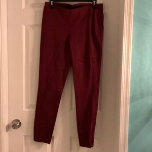 White house black market never worn maroon Leggins